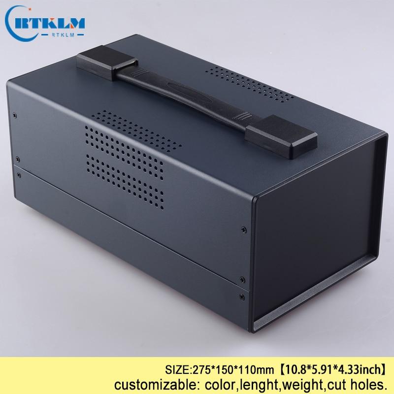 Iron electronics project box diy cabinet junction box 275*150*110mm desktop enclosure pcd design iron box wire connection box