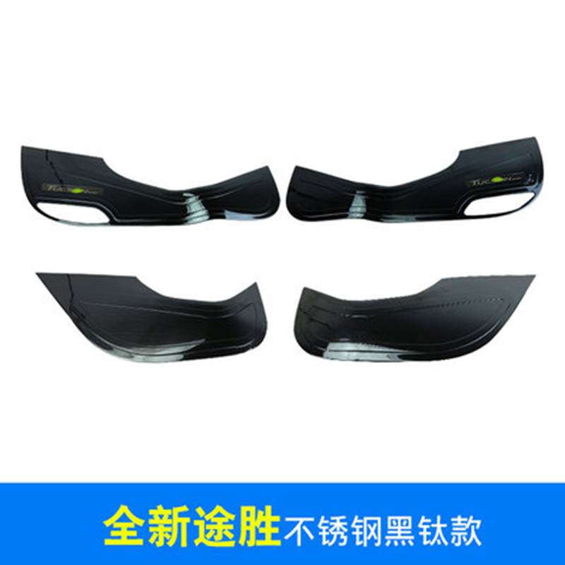 Car styling Stainless Steel Door Anti-Kick Pad Door protection Cover Decoration For Hyundai Tucson 2015 2016 2017 4PCS/SET