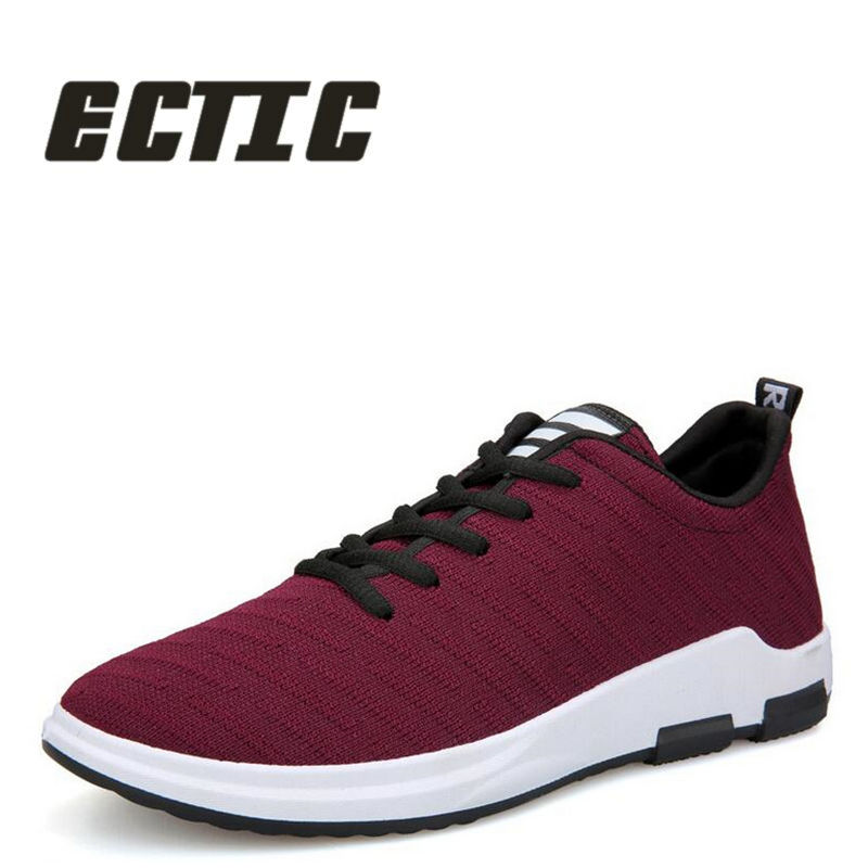 ECTIC 2018 New mens canvas shoes Young mesh sneaker shoes Breathable Mens casual shoes mens driving shoes baby flat DD-015