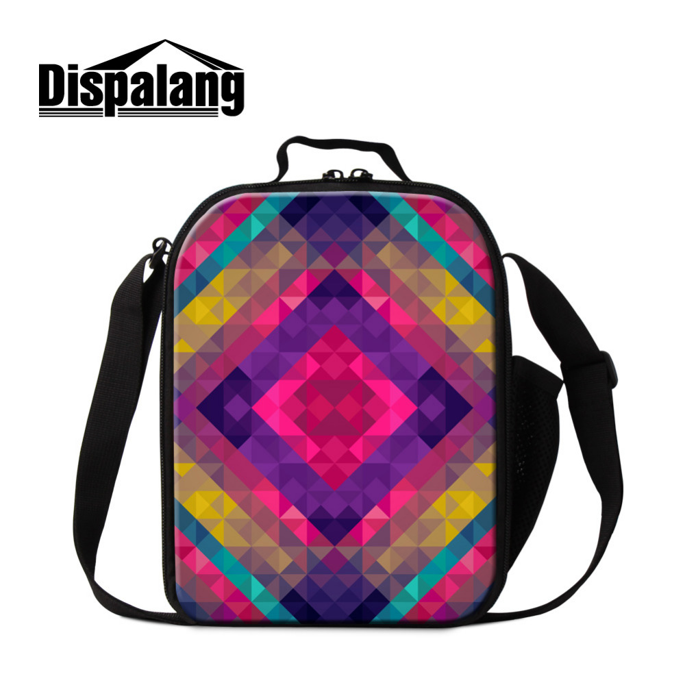 6bbee083d4 Dispalang Kids Cooler Lunch Bag Flashes Geometry Print Boys Girl Thermal Insulated  Lunch Box For School Children Picnic Food Bag