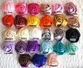 30Colors U PICK -100pcs/lot 35mm Satin Roses -1.3Petite Satin Rosettes -Wholesale Lot -Satin Rolled Rosettes - Fabric Flowers