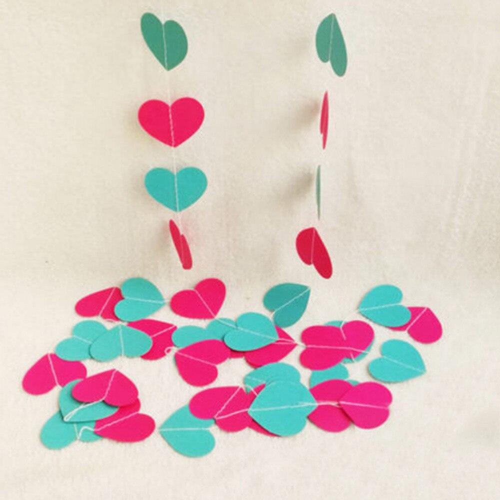 4 m Kleurrijke Hart Papier Bruiloft Decoratie Guirlande Handgemaakte - Feestversiering en feestartikelen - Foto 5
