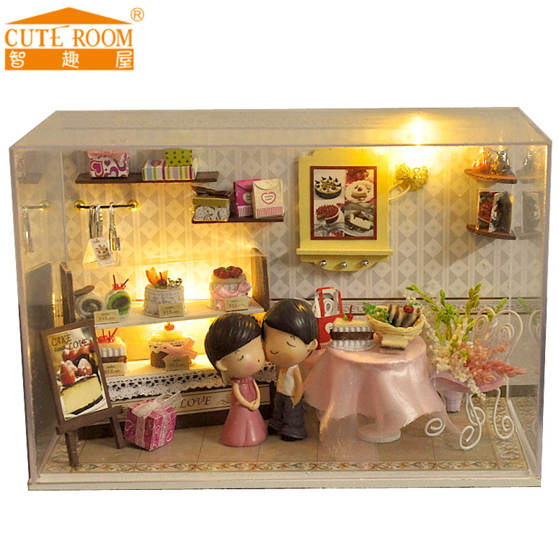 Cheap Miniatura Home Decoration Crafts Diy Doll House Wooden Houses  Miniature Dollhouse Furniture Kit Room Led With Wooden Dollhouse Furniture  Kits