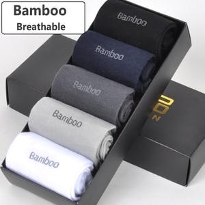 Image 5 - 2018 Men Bamboo Socks Breathable Deodorant Comfortable Anti Bacterial Casual Business Man Long Socks (5pairs / lot)