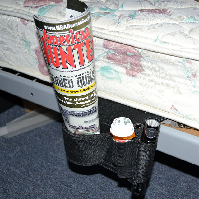 concealed under mattress bed side pistol holster car truck seat