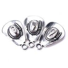 1c61439b4f03 10 unids lote 20mm 13mm x 13mm sombrero vaquero de plata antiguo de  encantos colgantes tono diy encantos colgante de collar de a.