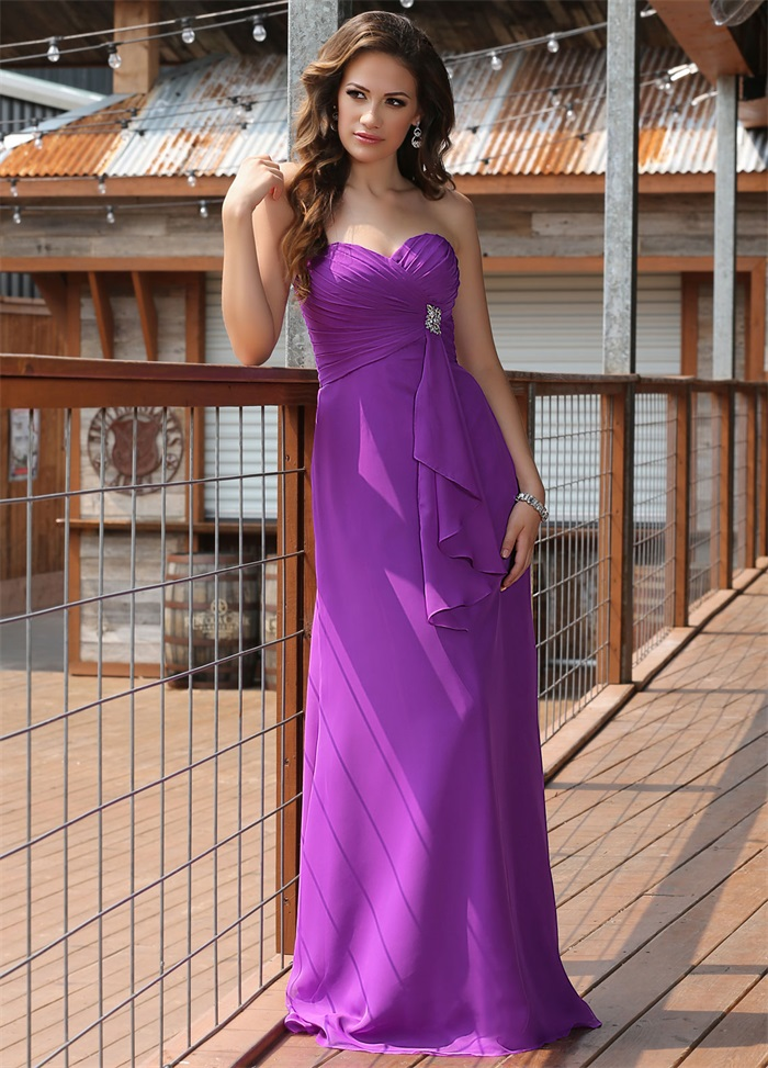 Latest Design Elegant Women Rose Violet Bridesmaid Dresses 2015 ...