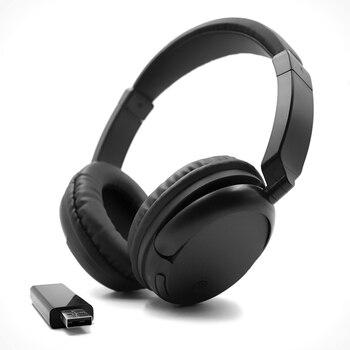 Auriculares inalámbricos para TV, auriculares estéreo multifunción recargables, Ecouteur con transmisor de radio fm para TV, PC, Pad, teléfonos MP3