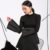 2017 Europa Rua bater parágrafo Bolha grande camisola de manga comprida Fina mulher roupas da moda livre shipping-T000121