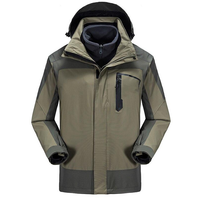 Nouveau 2 in1 hiver chaud Camping Long manteau imperméable Ski Snowboard pêche randonnée en plein air veste hommes coupe-vent Jaqueta Feminina