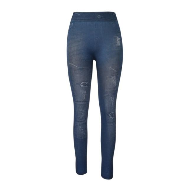f7e0213a356ac2 2018 Fashion High Elastic Leggings Women Long Pants Summer New Style Print Imitation  Jeans Big Size