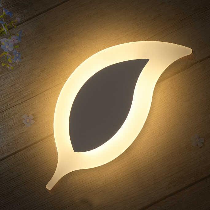 Современные светодиодные Настенные светильники настенная лампа в форме листа