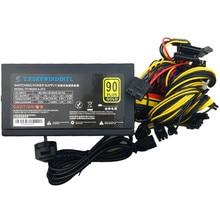1600 Вт ATX горнодобывающее Электропитание Шахтерская машина блок питания для ETH/BTC Новый тихий ПК 1600 Вт ATX Биткойн Шахтер 12 В 1600 Вт 24PIN 8PIN