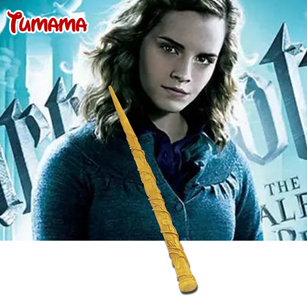 Harry Potter Magic Tricks kid Magic Toys Cosplay Hermione Yellow Magic Wand of Magical Stick Stage Magic for Children Gift