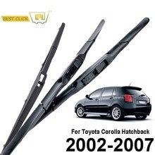Misima – ensemble de balais d'essuie-glace avant et arrière, pour Toyota Corolla Hatchback, E120, 2002, 2003, 2004, 2005, 2006, 2007
