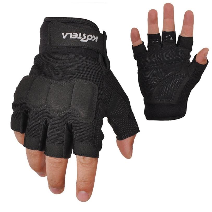 Black Multipurpose Mountaineering Sports Cycling Bike Half Finger Glove MTB Team Men Summer Bike Gloves