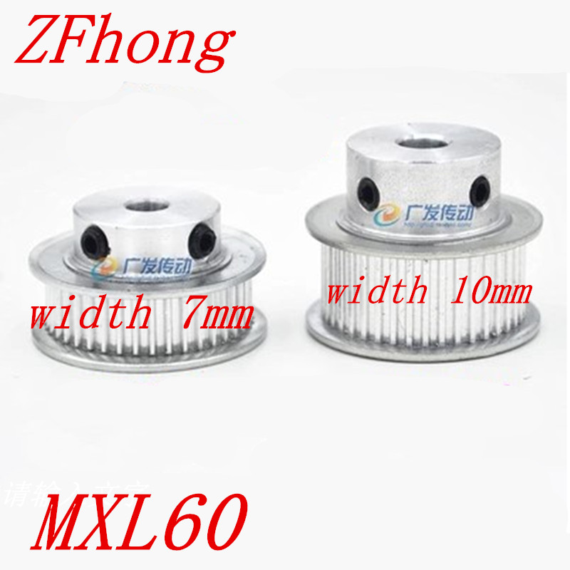 1pc 60 Teeth MXL60 Timing pulley pitch 2.032mm width 7mm or 11mm bore size 5mm/ 6mm/ 8mm/ 10mm/12mm/15mm|pulley pitch|60 teethtiming pulley - AliExpress