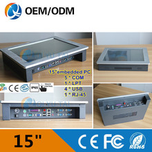 15» Industrial Computer With Touch Screen Resolution1024x768 ,Fanless mini Industrial PC Intel D525 1.8GHz all in one pc