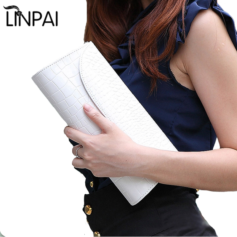 New Crocodile Leather Clutch Evening Bag Chain Banquet Women Bag Handbag Diagonal White Women Crossbody Bags Shoulder Bag Purse yuanyu new 2017 new hot free shipping crocodile women handbag single shoulder bag thailand crocodile leather bag shell package