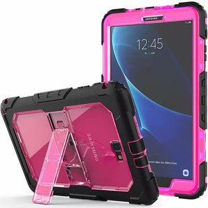 Image 4 - Kid Fall für Samsung Galaxy Tab EINE A6 10,1 2016 T580 T585 SM T585 T580N Tablet Stoßfest Heavy Duty Funda Abdeckung mit Ständer Hang