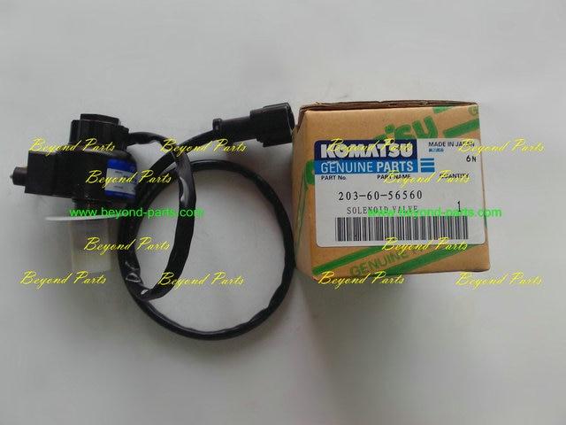 Komatsu excavator rotary solenoid valve 203 60 56560 on Aliexpress