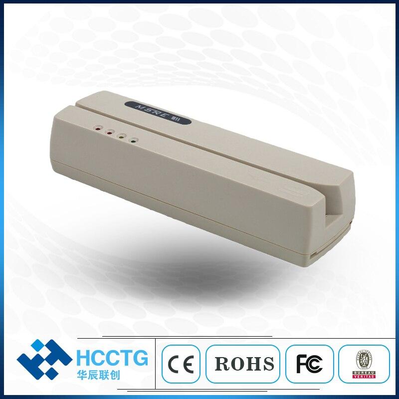 Interface USB et RS232 en option Android 1/2/3 pistes lecteur et graveur carte magnétique Compatible MSR 206 magnétique HCC206