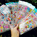 50 sheets/lot Children Cartoon Kids Stickers Toys Puffy Pattern Teacher Lovely Reward Stickers For Children adesivo Kids