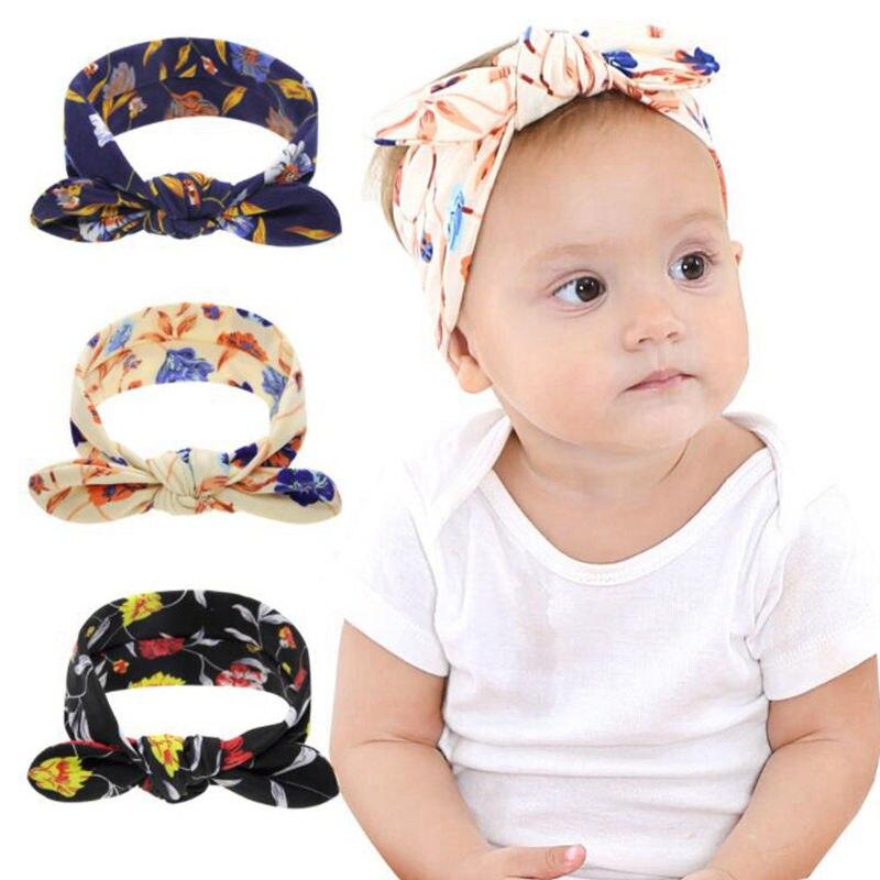 3d368a6068b Naturalwell Turban Baby headbands Baby girls headwrap Navy knot tie  headband Infant Top knot head wrap