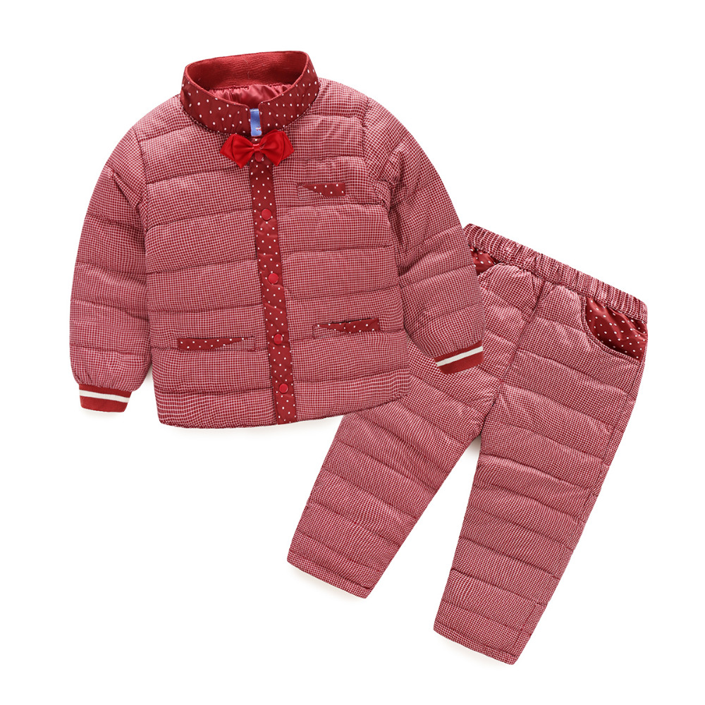 ФОТО WEONEWORLD Children Clothing Sets 2016 New White Duck Down Padded Jacket+Pants Girls And Boys Winter Kids Clothes Free Shipping