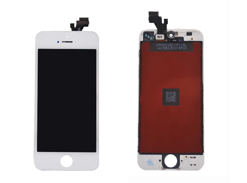 Czarny gwarancja 100% aaa wymiana wyświetlacza dla iphone 5 iphone 5c iphone 5s lcd z ekranem dotykowym digitizer pełna zgromadzenia 7
