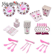 JOY-ENLIFE 1 set Flamingo Tema Carta Piatto da Tavola Tazza Banner Luau Tropicale Hawaiano Estate Spiaggia Piscina Festa di Compleanno Forniture