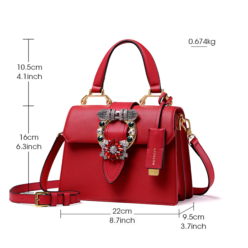 bfb4939d11 LAFESTIN 2018 Women Handbag Brand Designer Diamonds Real Leather Bag  Fashion Women Totes Shoulder Luxury brands Bag bolsa-in Top-Handle Bags  from Luggage ...