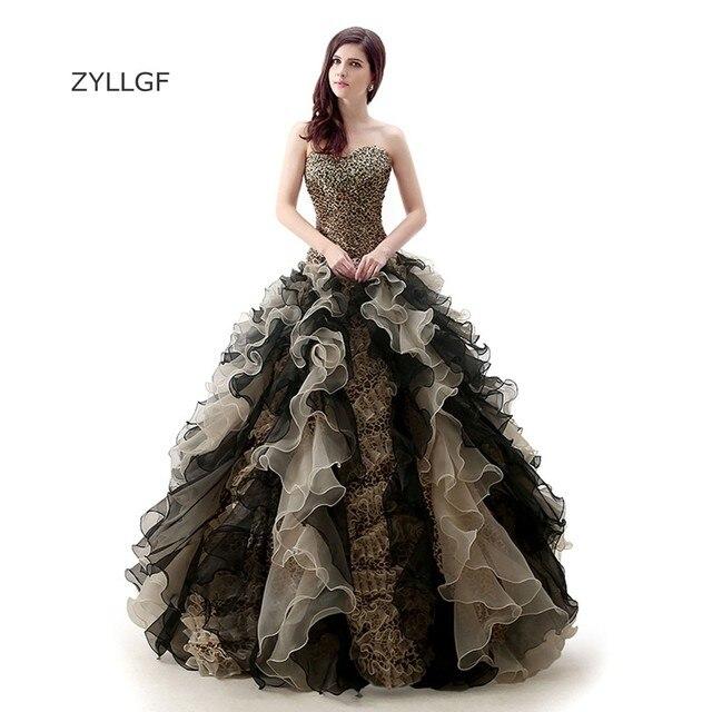 Zyllgf Elegant Mother Party Dresses Ruffled Vestidos 15 Anos