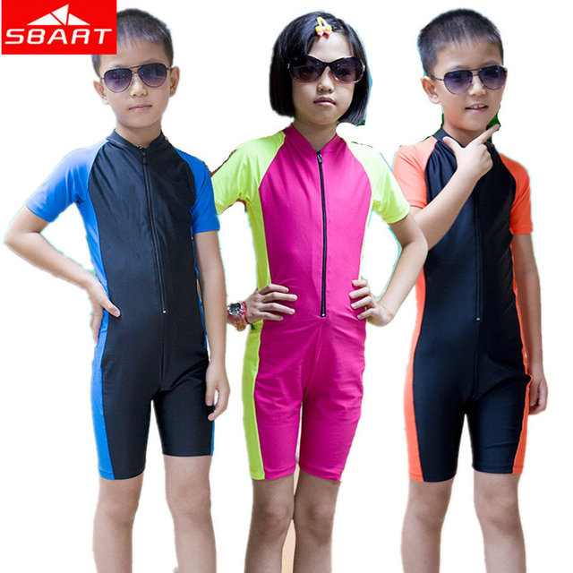 SBART Kids Swimming Wetsuits Short Short Sleeve Lycra Skin Boy Girls Surfing Diving Wetsuit Scuba Child Diving Wetsuit Surfguard