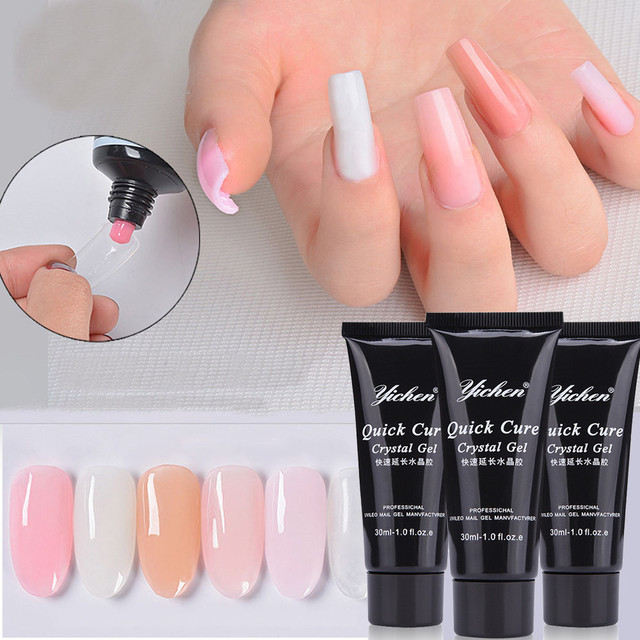 Women S Fashion Beauty Nail Gel Quick Cure Crystal Tips Extension Camouflage Builder Lack Glue