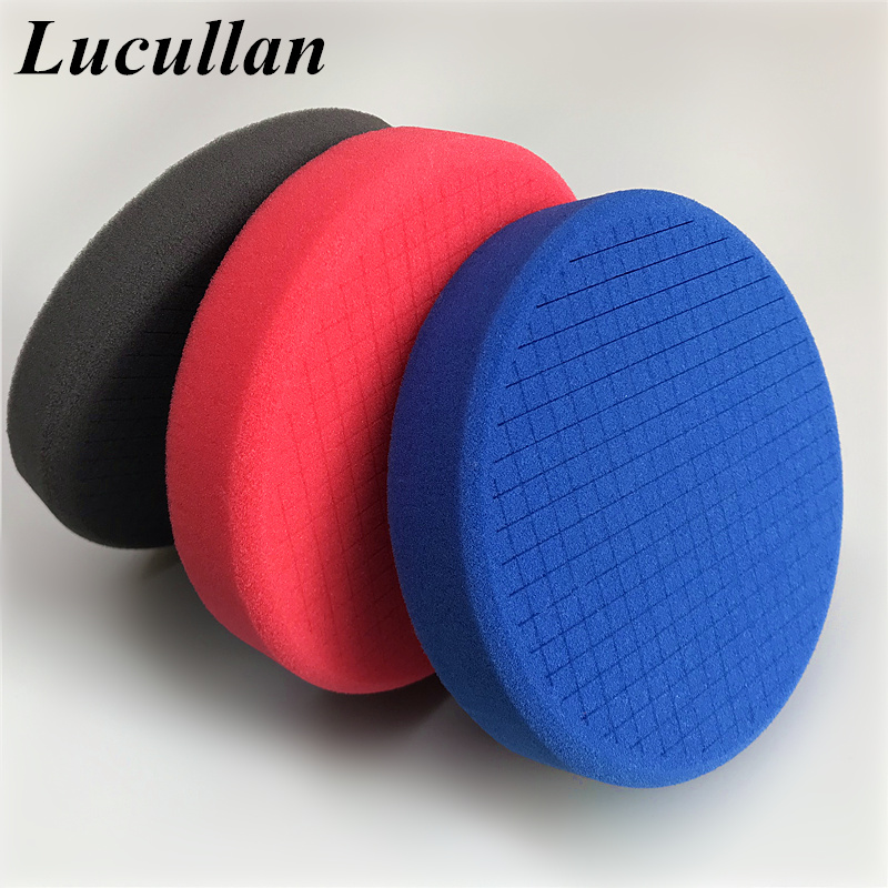 Lucullan 6 Inch Car Care Cutting Polishing And Finshing Pad 3D Desgin Car Buffing Sponge Better For Dissipate Heat