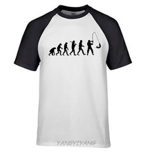 76c44e2f Evolution of Fishinger Funny Mens T Shirt - Birthday Gift For Dad Him brand  man top tees