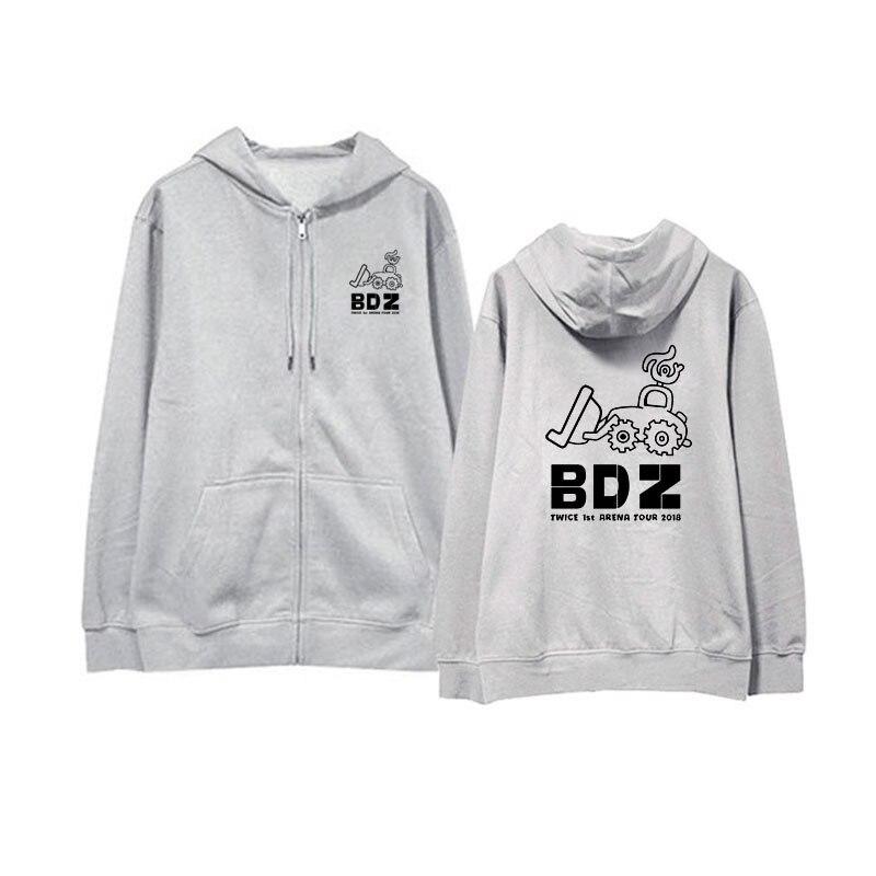 US $26 2 |K Pop Kpop TWICE BDZ Album Zipper Hoodie NaYeon JungYeon Momo  Loose Hooded Pullover Printed Long Sleeve Sweatshirts WY823-in Hoodies &