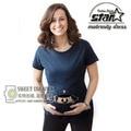 Divertido de la novedad Camisas Ropa de Maternidad Para la Mujer Embarazada Embarazada Camiseta Premama Desgaste Policebaby Imprimir Traje