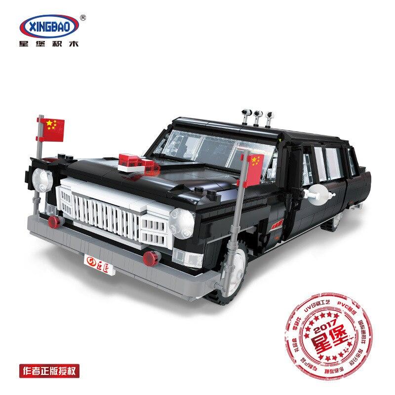 2327 pièces XingBao blocs Technic voiture modèle Hongqi ensemble enfants éducatifs briques de construction jouets enfants cadeaux noël 03003