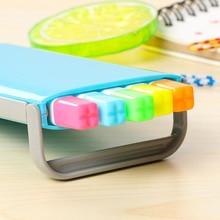 Novidade 5 cor Encaixotado estudante highlighter set DIY Álbum diário decoração Escritório & Escola Marcadores highlighter pen