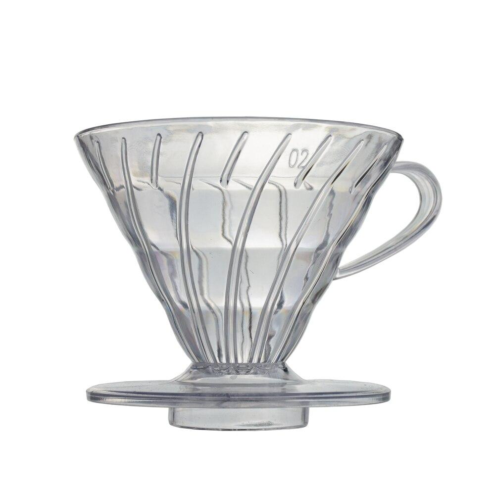 2/4 copos resistentes ao calor da resina do dripper v60 do café da venda quente para o copo da cerveja do café do barista