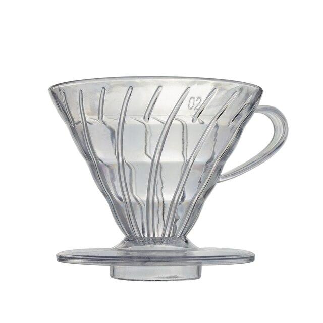 Sıcak Satış Kahve Damlatıcı V60 Isıya dayanıklı reçine 2/4 bardak barista Kahve Bira Bardak