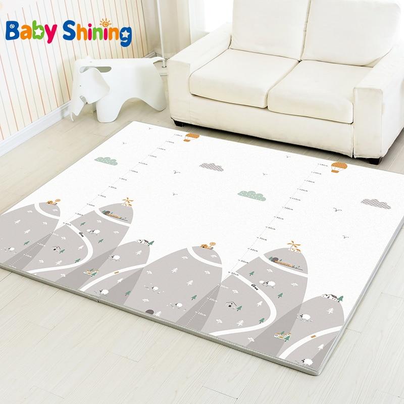 Bébé brillant tapis de jeu antidérapant bébé tapis XPE mousse tapis entier 200*180 (78.7 * 70.9in) épais 2 CM enfants tapis pour chambre d'enfants