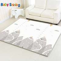 Baby Shining Play Mat Non Slip Baby Mat XPE Foam Mat Whole 200*180(78.7*70.9in) Thick 2CM Kids Rug for Children Room