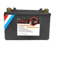 KP7A BS Motorrad LiFePO4 Batterie 12V 7Ah CCA 260A Lithium eisen Motorrad Starten Batterie Mit BMS Tiefe 2000 Zyklen Für ATVs UTVs