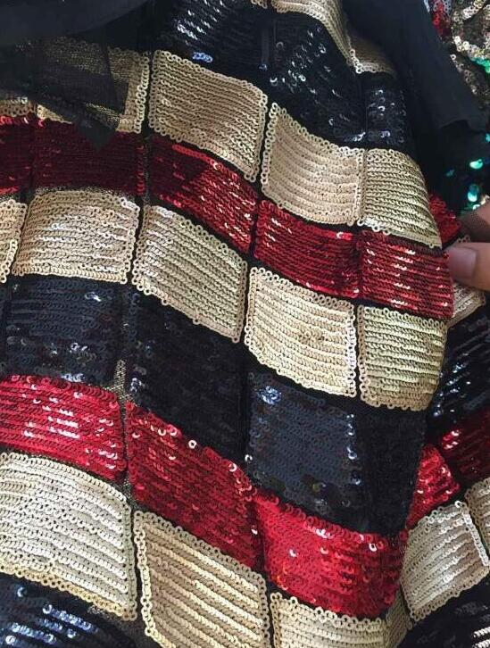 Newest CiCi 60804 african sequin FABRIC french net lace fabric for party dress 5 color option
