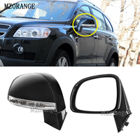 MZORANGE 1PCS For Chevrolet Captiva 2008 2010 Side Heated Rear View Mirror LED Indicator Light Rearview Mirror Assembly Holder