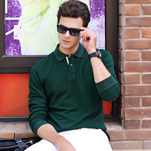URSPORTTECH Brand Spring Autumn Mens Polo Shirt High Quality Cotton Long Sleeve Stand Collar Casual Shirts Male Polos Homme