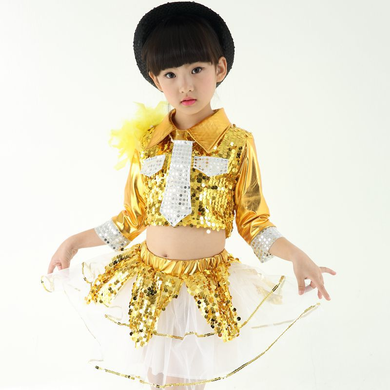 f8f68453e69ba Children's Sequins Latin Jazz Dance Dress Practice Performance Ballroom  Dance Leotards Girls/boys Latin Dancing Singer Costume-in Ballroom from  Novelty ...
